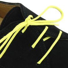 lacets ronds coton ciré couleur jaune canari