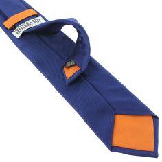 Cravate soie italienne, Bleu royal