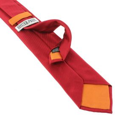 Cravate soie italienne, Rouge Sangue