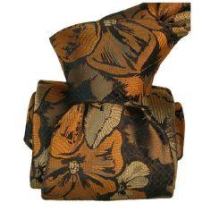 Cravate Classique Segni Disegni pure soie, Pensées cuivre