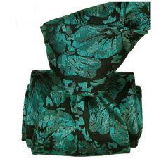 Cravate Classique Segni Disegni pure soie, Pensées turquoise