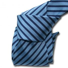 Cravate Classique Segni Disegni, Mogador, Brescia, Deux bleus