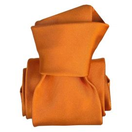Cravate Classique Segni Disegni, Satin Orange