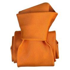 Cravate Classique Segni Disegni, Satin Orange