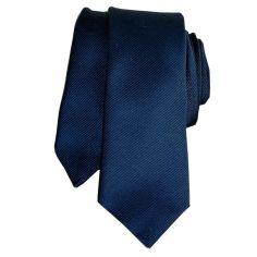 Cravate Segni Disegni LUXE, Faite main, Slim bleu