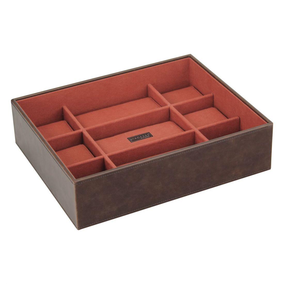 boite 15 montres stackers empilable module2 marron orange. Black Bedroom Furniture Sets. Home Design Ideas