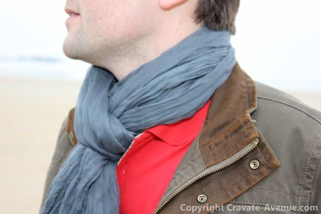 cheche cravate avenue plage du sillon