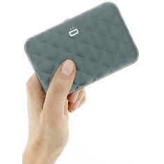 Porte carte Aluminium Platinium, Quilted Button, Ogon Designs