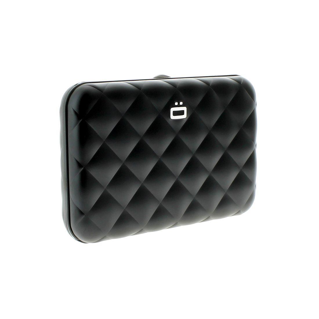 Porte carte aluminium black quilted button ogon designs ogon desi - Porte carte aluminium ogon ...