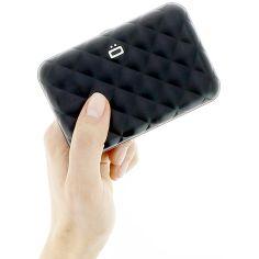 Porte carte Aluminium Black, Quilted Button, Ogon Designs