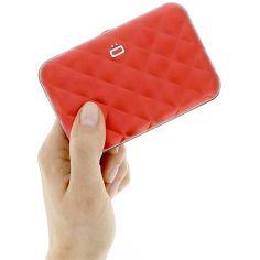 Porte carte Aluminium Red, Quilted Button, Ogon Designs