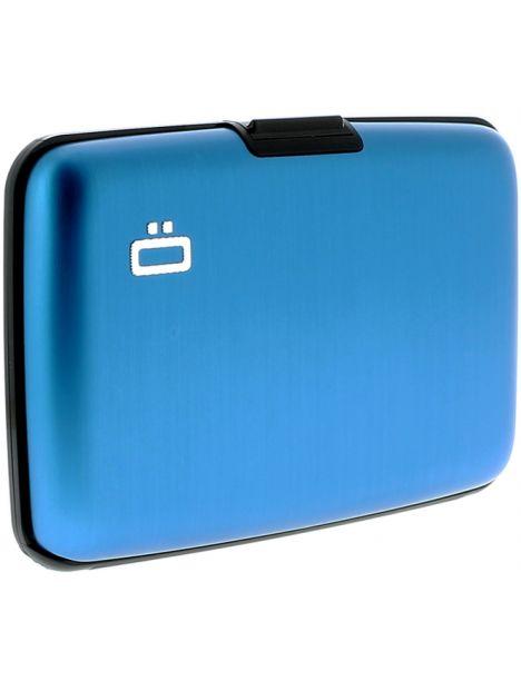 Porte carte Ogon Designs Blue métal - Bleu Ogon Designs Petite Maroquinerie