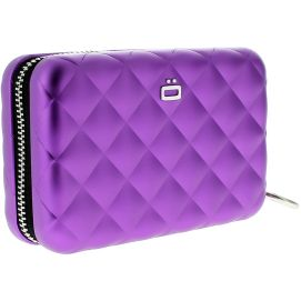 Porte carte Alu Purple, Quilted Zipper 24 cartes, Ogon Designs