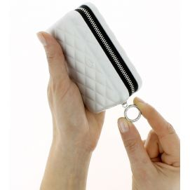 Porte carte Alu Silver, Quilted Zipper 24 cartes, Ogon Designs
