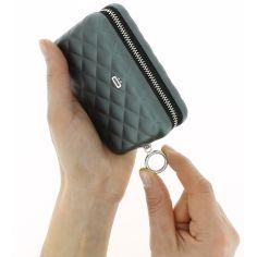 Porte carte Alu Platinium, Quilted Zipper 24 cartes, Ogon Designs
