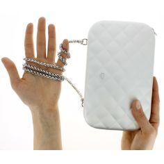 Sac Minaudière Quilted Lady Bag, Ogon Designs, gris argenté