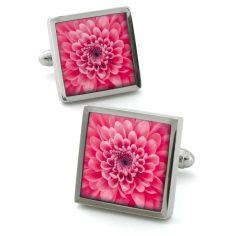 Bouton de manchette Robert Charles Chrysanthemum Rose