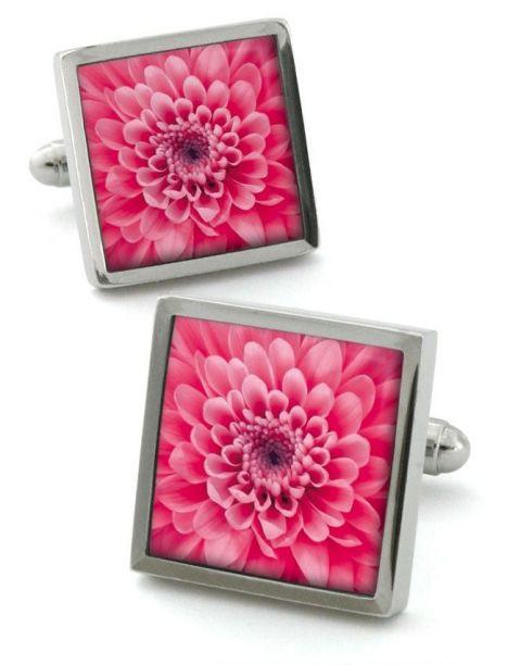 Boutons de manchette, Chrysanthemum Rose Robert Charles Bouton de manchette
