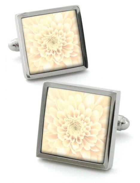 Bouton de manchette Robert Charles Chrysanthemum ivoire Robert Charles Bouton de manchette