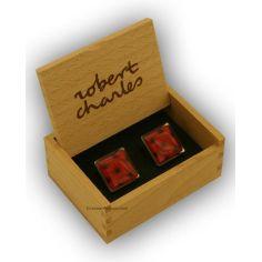 Bouton de manchette Robert Charles coffee