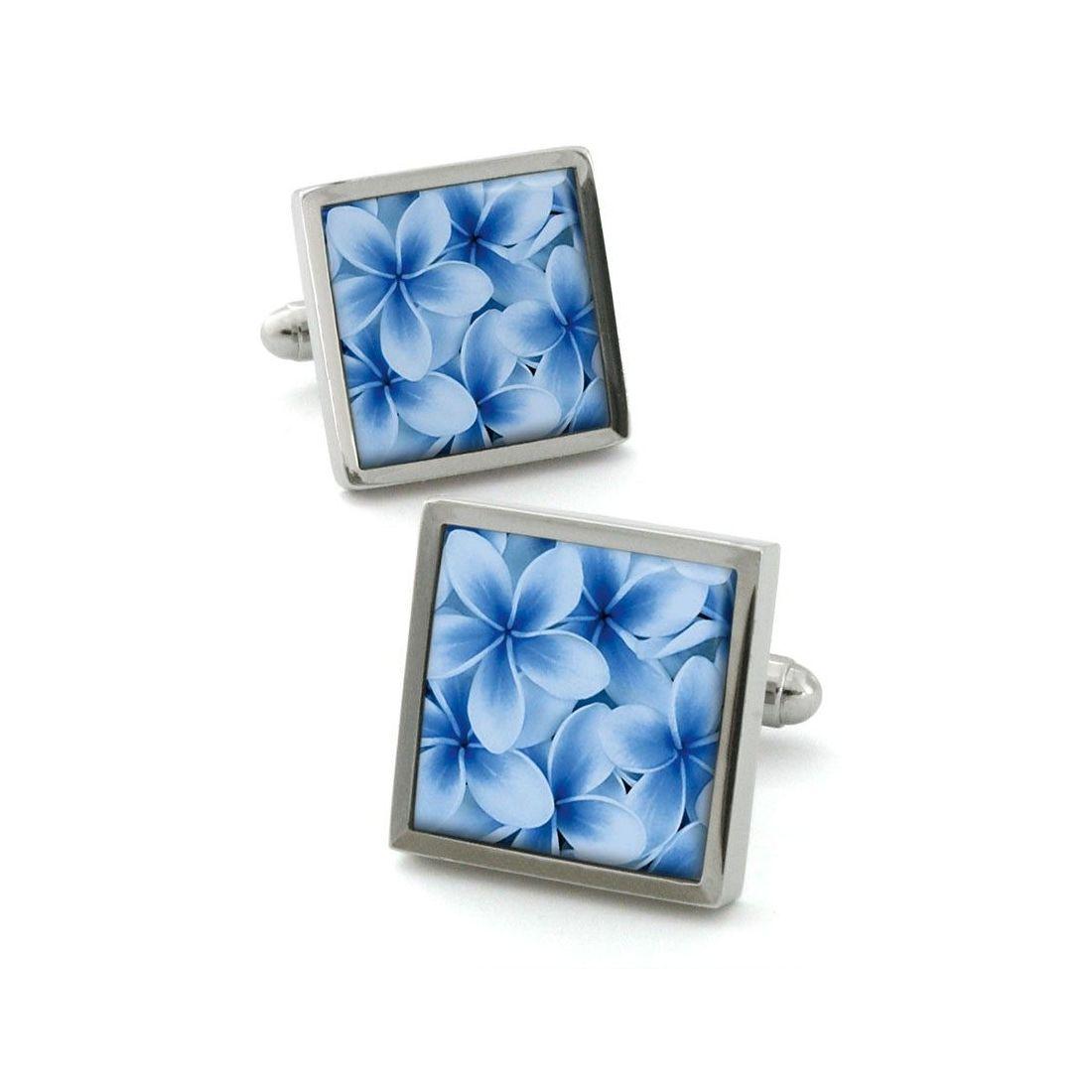 bouton de manchette robert charles frangipani blue robert. Black Bedroom Furniture Sets. Home Design Ideas
