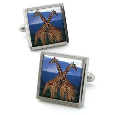 Bouton de manchette Robert Charles Giraffe