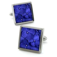 Boutons de manchette, Hydrangea Blue