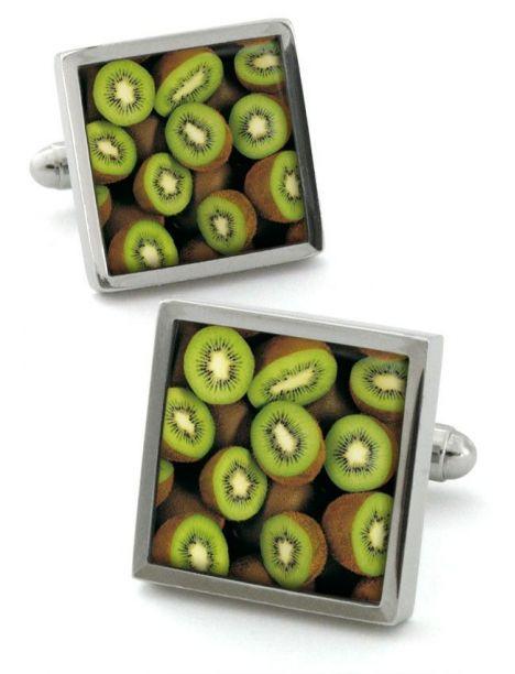 Boutons de manchette, kiwifruit Robert Charles Bouton de manchette