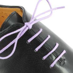 lacets ronds coton ciré couleur Lavande