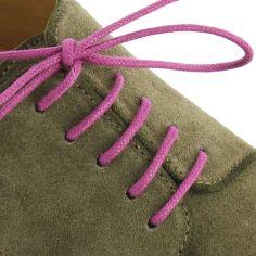 lacets ronds coton ciré couleur Violet