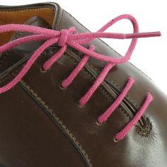 lacets ronds coton ciré couleur Rose Framboise