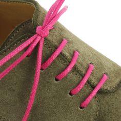 lacets ronds coton ciré couleur Rose Boléro