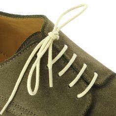 lacets ronds coton ciré couleur jaune paille