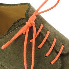 lacets ronds coton ciré couleur Mandarine