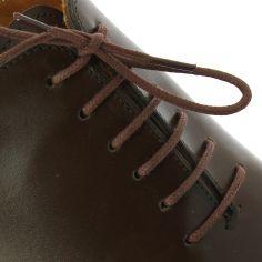 lacets ronds coton ciré couleur Acajou