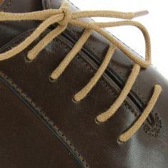 lacets ronds coton ciré couleur Chameau