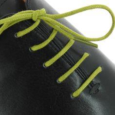 lacets ronds coton ciré couleur vert colibri