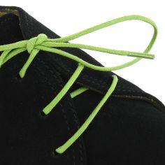lacets ronds coton ciré couleur vert pastourelle
