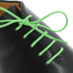 lacets ronds coton ciré couleur vert anis