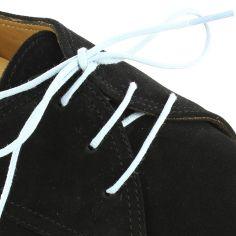 lacets ronds coton ciré couleur bleu ciel