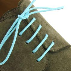 lacets ronds coton ciré couleur bleu turquoise