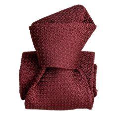 Cravate grenadine de soie, Segni & Disegni, Beverly Bordeaux Segni et Disegni Cravates