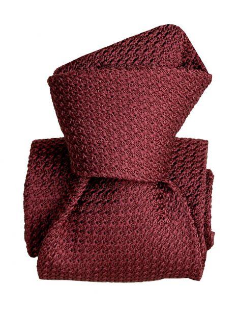 Cravate grenadine de soie, Segni et Disegni, Beverly Bordeaux Segni et Disegni Cravates