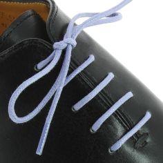 lacets ronds coton ciré couleur bleu pensée