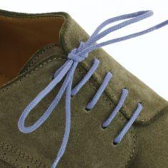 lacets ronds coton ciré couleur bleu plomb