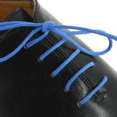 lacets ronds coton ciré couleur bleu blason