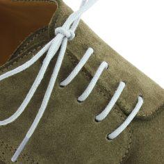 lacets ronds coton ciré couleur gris Cendre