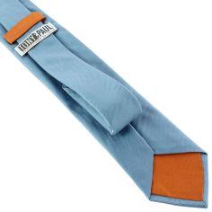 Cravate soie italienne, Tevere bleu