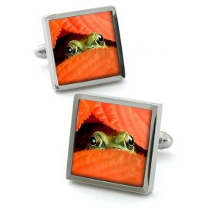 Bouton de manchette Robert Charles Peeping-Frog