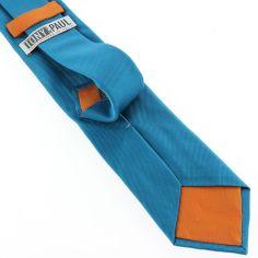 Cravate soie italienne,  cobalto